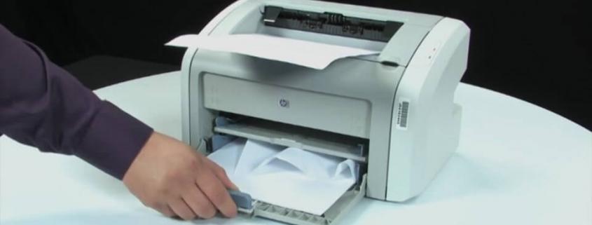 کاغذ پس از خروج داخل پرینتر گیر میکند