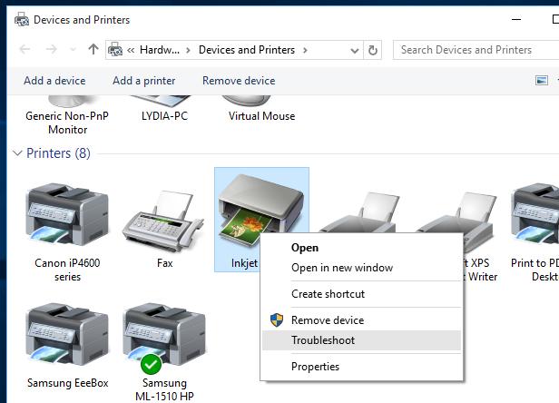 باز کردن کنترل پنل چاپگر